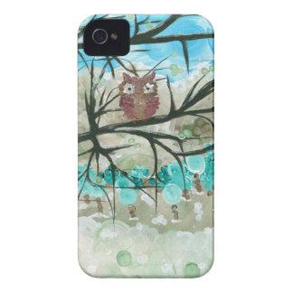"""Hoolandia (c) 2013 – Owl Seasons - """"Winter"""" Case-Mate iPhone 4 Cases"""