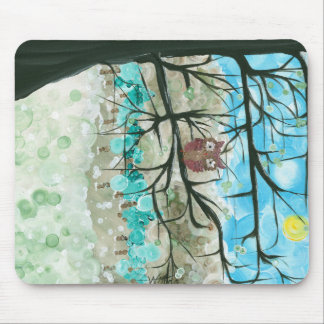 "Hoolandia (c) 2013 – Owl Seasons - ""Winter"" Mouse Pad"