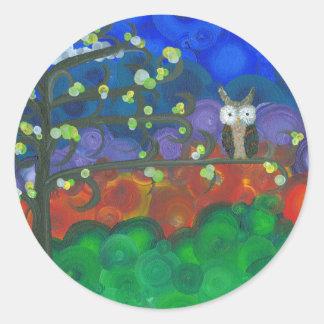 Hoolandia (c) 2013 – Owl Singles Classic Round Sticker