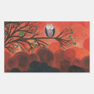 Hoolandia (c) 2013 – Owl Singles Rectangular Sticker