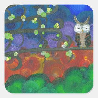 Hoolandia (c) 2013 – Owl Singles Square Sticker