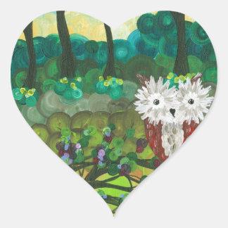 Hoolandia (c) 2013 - serie de las expresiones del pegatina en forma de corazón