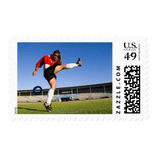 Hooligan kicking stamps