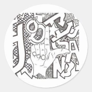 Hooligan products classic round sticker