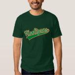 Hooligans Baseball Script Irish Shamrock Tricolour Tshirts