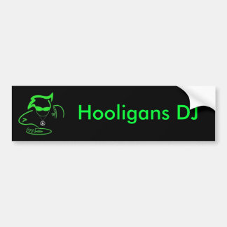 Hooligans DJ Logo Bumper Sticker