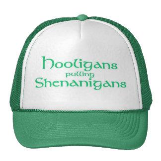Hooligans pulling Shenanigans Trucker Hat