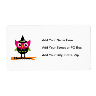 Hooooot Owl Halloween T-shirts and Gifts Custom Shipping Labels