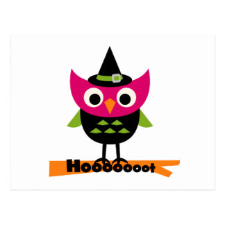 Hooooot Owl Halloween T-shirts and Gifts Postcards