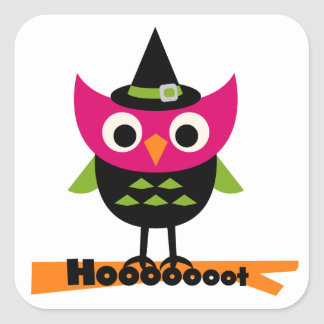 Hooooot Owl Halloween T-shirts and Gifts Square Sticker