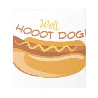 Hoooot Dog Notepad