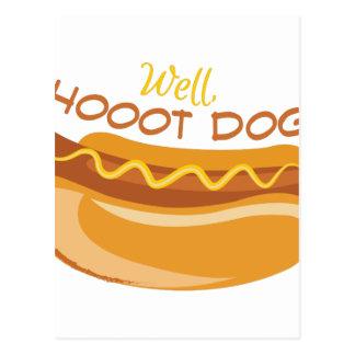 Hoooot Dog Postcard