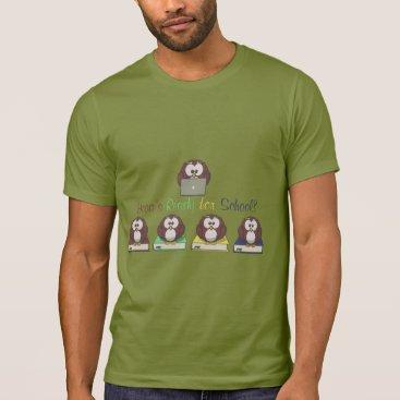 Beach Themed Hooo's Ready for School T-Shirt