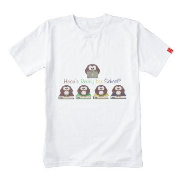 Beach Themed Hooo's Ready for School Zazzle HEART T-Shirt