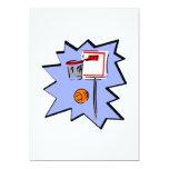 "Hoop & ball 5"" x 7"" invitation card"