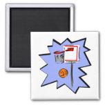 Hoop & ball fridge magnets