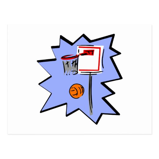 Hoop & ball post card