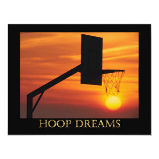 HOOP DREAMS 4.25X5.5 PAPER INVITATION CARD