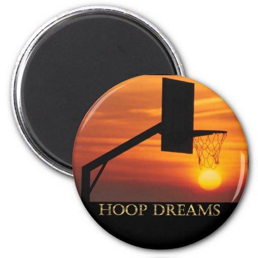 HOOP DREAMS FRIDGE MAGNET