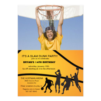 Hoop Game Photo Invitation