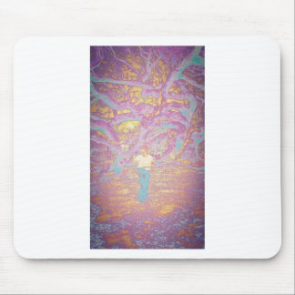 Hoop Girl in Technicolor Mouse Pad