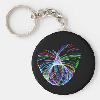 Hoop Heart Basic Round Button Keychain
