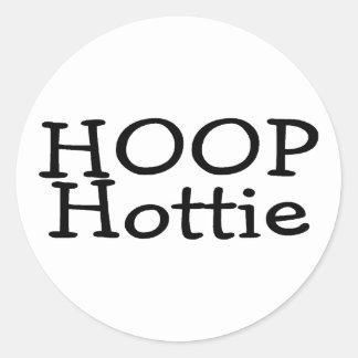 Hoop Hottie Classic Round Sticker
