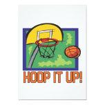 Hoop It Up 5x7 Paper Invitation Card