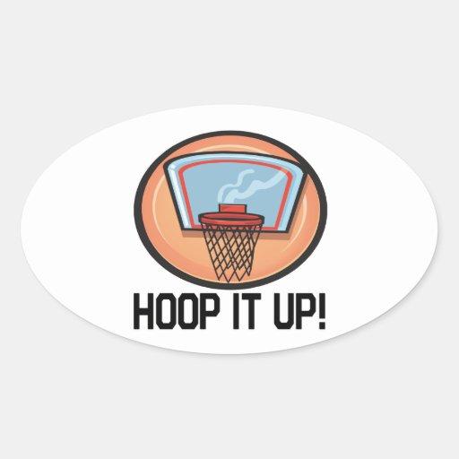 Hoop It Up Oval Sticker