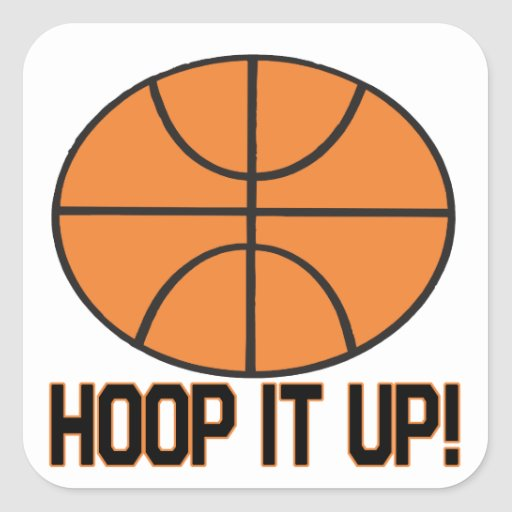 Hoop It Up Square Sticker