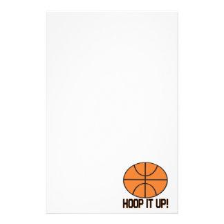 Hoop It Up Custom Stationery