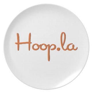 Hoop.la community swag melamine plate