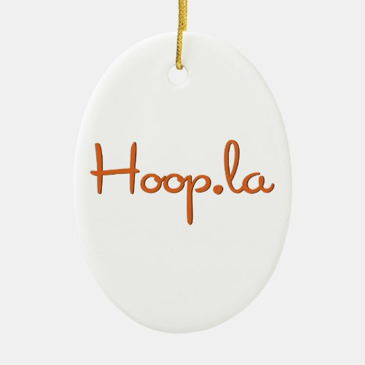 Hoop.la community swag Double-Sided oval ceramic christmas ornament
