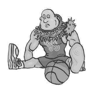 Hoop on head basketball gray acrylic cut out