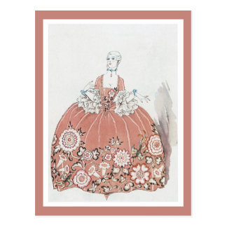 Hoop Skirt in Dusty Pink Postcard
