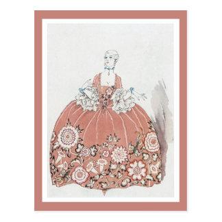 Hoop Skirt in Dusty Pink Postcard