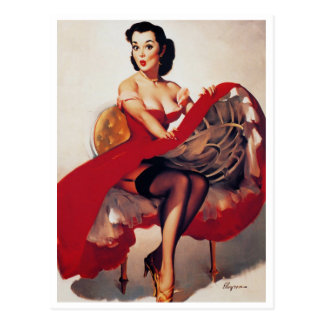 Hoop Skirt Pin Up Post Cards