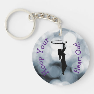 Hoop your heart out keychain