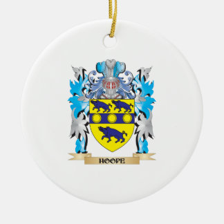 Hoope Coat of Arms - Family Crest Double-Sided Ceramic Round Christmas Ornament