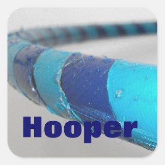 """""""Hooper"""", aro de Hula, primer Pegatina Cuadrada"""
