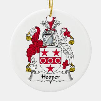 Hooper Family Crest Ceramic Ornament