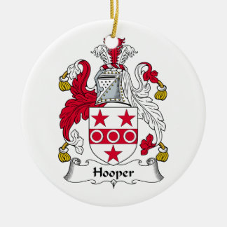 Hooper Family Crest Christmas Ornaments