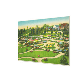 Hoopes Park Perennial Gardens View Canvas Print
