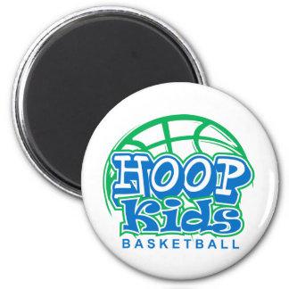 HoopKids Basketball 2 Inch Round Magnet