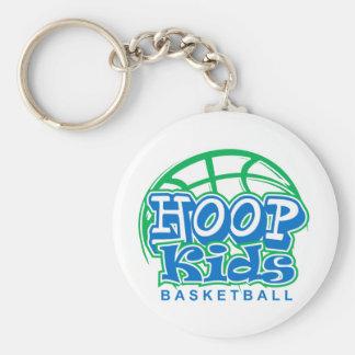 HoopKids Basketball Basic Round Button Keychain