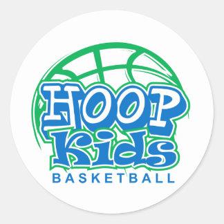 HoopKids Basketball Classic Round Sticker