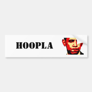 HOOPLA bumper sticker Car Bumper Sticker