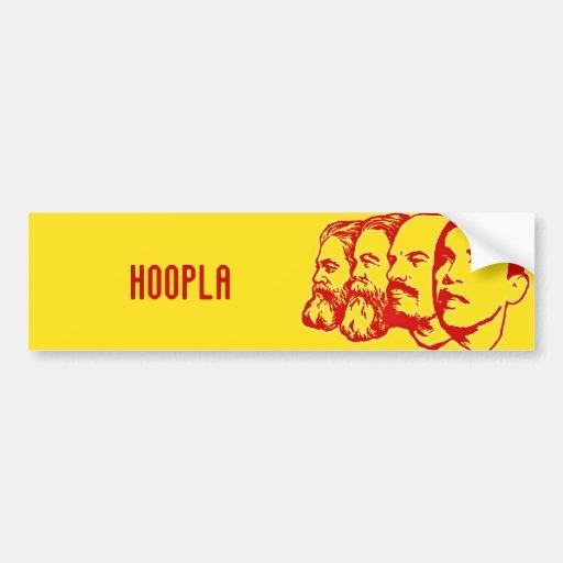 HOOPLA bumper sticker