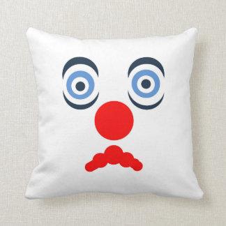 Hoopla Clown Design Throw Pillow