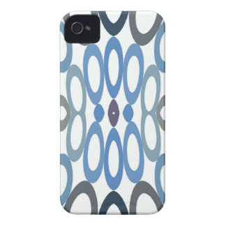 Hoopla Cool Blue iPhone 4 Case-Mate Case